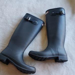 Hunter new wide tall woman rain boots mate finish